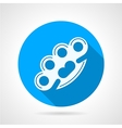 Flat icon for self-defence Brass knuckles vector image