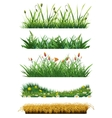 Grass set of elements vector image