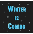 inscription winter is coming with snowflakes vector image