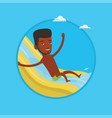 man riding down waterslide vector image