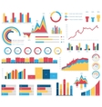 Set for infographics various design elements vector image