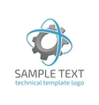 Template logo gear vector image