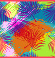 tropical summer pattern abstract palm leaf art vector image