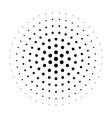 Abstract halftone circle vector image