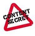 Content Secret rubber stamp vector image