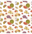Fresh fruit hand drawn seamless pattern vector image vector image