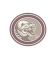 Rattle Snake Head Retro vector image vector image