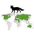Fox range vector image vector image