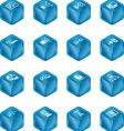 cube icons vector image vector image