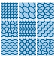 Set of nine monochrome geometrical patterns vector image
