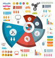 Infographics Layout with Icons - Elements vector image vector image