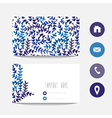 watercolor business card vector image