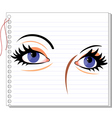 eye make-up vector image vector image