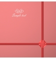 Gift wrap holidays cover vector image