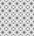 Grey seamless stylized flower pattern in oriental vector image vector image