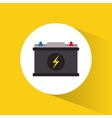 battery high voltage electricity vector image