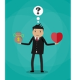 Businessman balance Work and life vector image