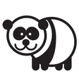 Cute animal panda - vector image