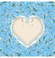 Forget me not heart vector image