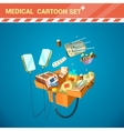 Hospital Equipment Cartoon Set vector image