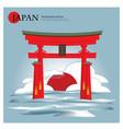 itsukushima shrine japan landmark vector image
