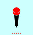 microphone it is icon vector image