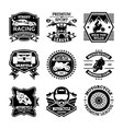 Motor Sport Badges vector image