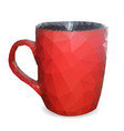 red cup of triangles vector image