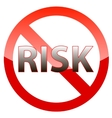Risk-free guarantee icon vector image