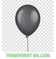 transparent black ballon vector image