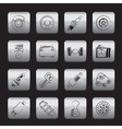 Different kind of car parts icons vector image vector image
