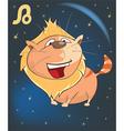 Zodiac Signs Leo Cartoon Character vector image