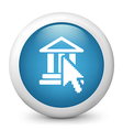 Online Banking glossy icon vector image vector image