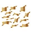 Set of Retro Golden Ribbons vector image
