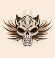 skull-and-wings vector image
