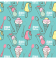 Funny ice cream vector image