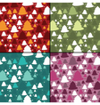 Set of four new year seamless pattern vector image vector image