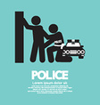 Police with The Law Offender vector image