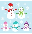 cute and funny snowmen vector image