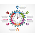 Abstract infographic in the clock in the centre vector image