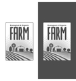 Farmers with fields badges vector image