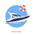 Boat Flat Icon vector image