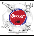 Drawing of soccer background vector image