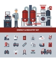 Energy And Industry Set vector image