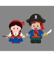 Pirates in cartoon style vector image