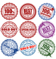 retail stamps vector image