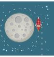 Rokets moon vector image