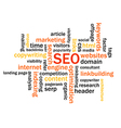 Search Engine Optimization Abstract Image vector image