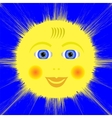 Smiling Yellow Sun Icon vector image