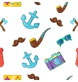 Subculture hipster pattern cartoon style vector image